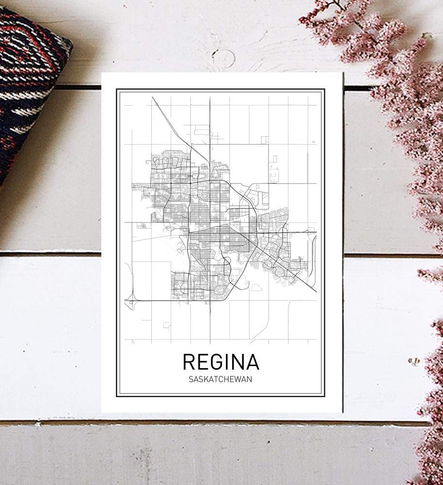Regina Poster, Regina Map, Map of Regina, City Map Posters, Modern Map Art, City Prints, Map Wall Decor, Minimal Print, Map Poster, City Poster, City Map Wall Art, Minimalist Posters, 8x10