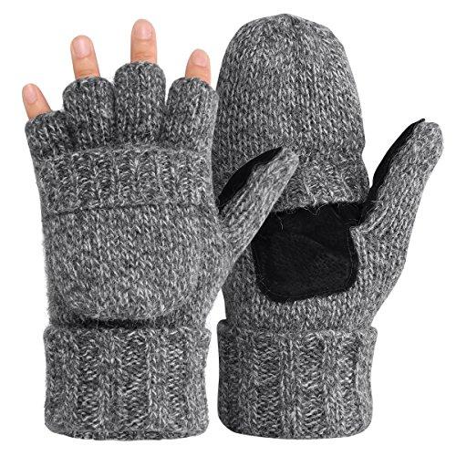 OMECHY Winter Knitted Fingerless...