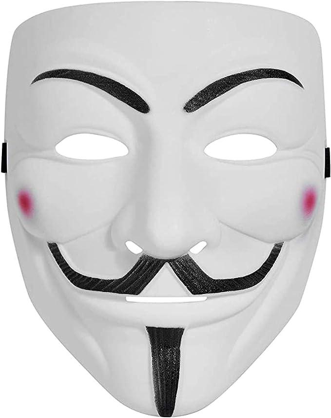 Led Light Glowing Anonymous Hacker V For Vendetta Guy  Halloween Face Mask I7I0