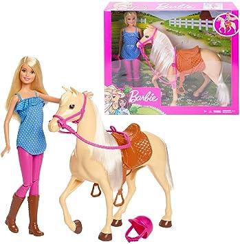 poupée et cheval barbie