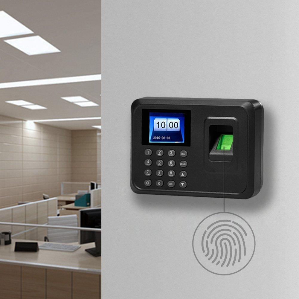 Tukzer de fichar biométrica de huellas dactilares/cafetera frequentation biométrica de huellas dactilares 2.4 TFT LCD pantalla DC 5 V/1 A employé ...