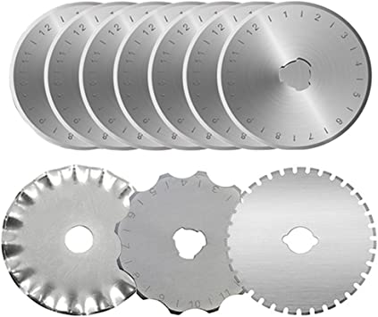 Pack of 2 Blades Titanium Rotary Blades 45mm Suitable for Most Rotary Cutters