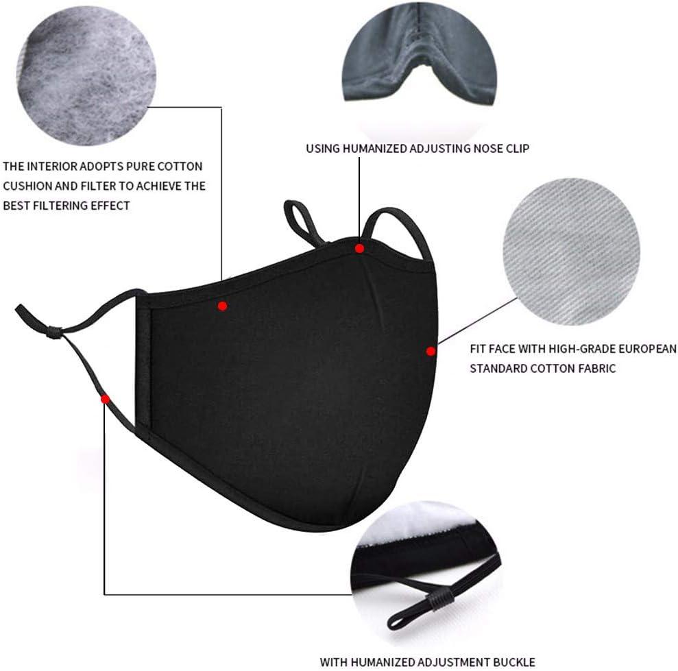 NINGNETI Antipolvo Reutilizable y Lavable para Deportes al Aire Libre Pack 1 unidades con Ajustable para Los O/ídos 3 unidades Carb/ón Activado Filtro