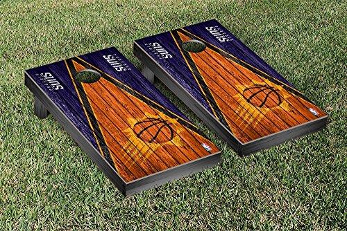 Phoenix Suns NBA Basketball Regulation Cornhole Game Set Triangle Weathered Version by Victory Tailgate