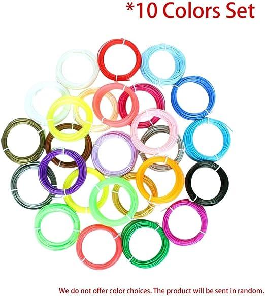 Conjunto de filamentos de impresión de 10 colores Materiales de ...