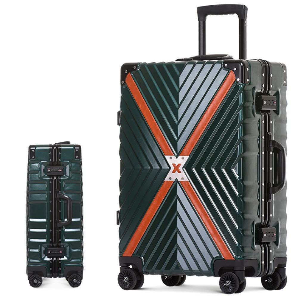 MHO ラゲッジアルミフレーム スーツケース TSAロック付き (20インチ) スピナー スーツケース トラベルバッグ トロリー ローリングスーツケース グリーン 564-061 B07JRFP8XV グリーン