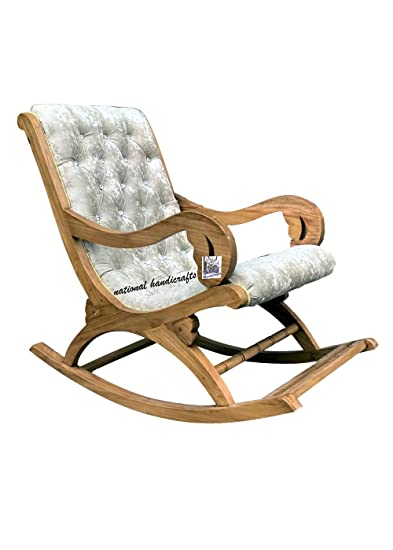Magnificent National Handicrafts Wood Rocking Chair Aaram Chair Wooden Squirreltailoven Fun Painted Chair Ideas Images Squirreltailovenorg