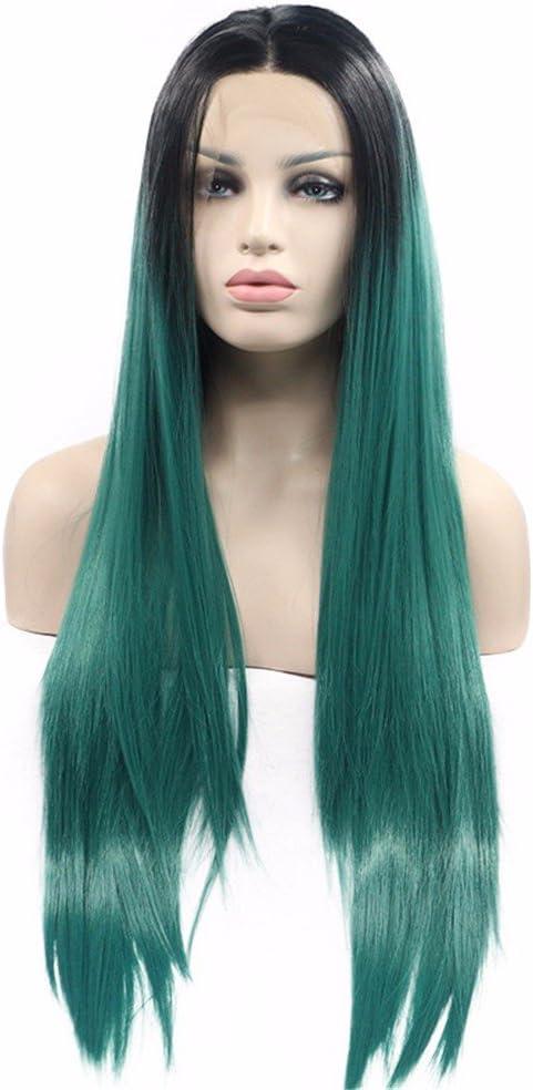 wiglala peluca hembra verde oscuro cosplay Cabello y largos ...