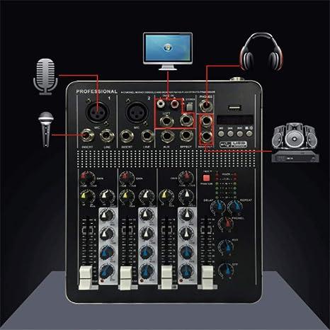 ChenYongPing Consola de Mezclas de Audio Mezclador ...