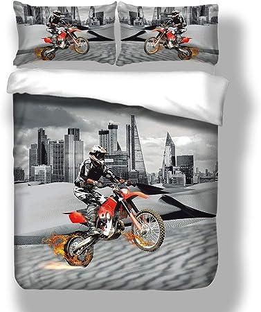 1 Taie Moto Cross Housse de Couette 140 X 200 cm
