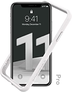 RhinoShield Bumper Case Compatible with [iPhone 11 Pro] | CrashGuard NX - Shock Absorbent Slim Design Protective Cover 3.5M / 11ft Drop Protection - White
