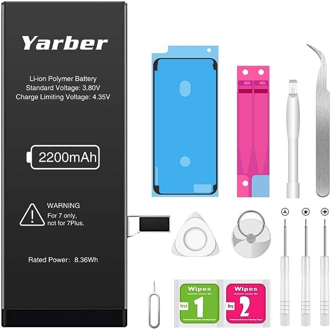 53 opinioni per Yarber Batteria per iPhone 7, 2200mAh Batteria sostitutiva ad alta capacità 0