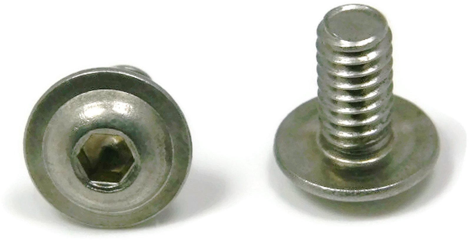 Button Flange Socket Head Screw 18-8 Stainless Steel - 1/4-20 x 3/4 (FT) Qty-100