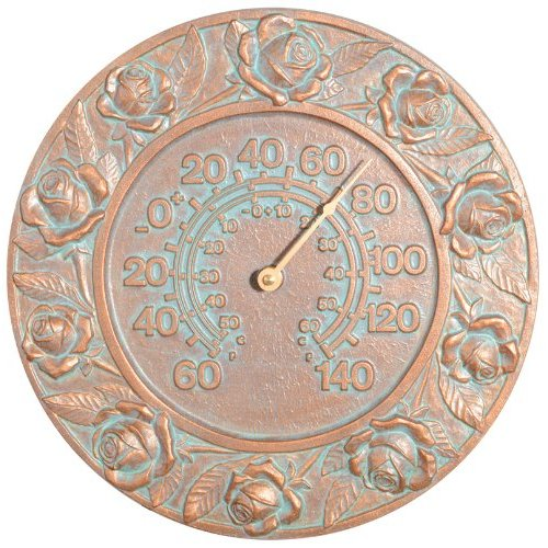 (Whitehall Products Rose Thermometer, Copper Verdi)