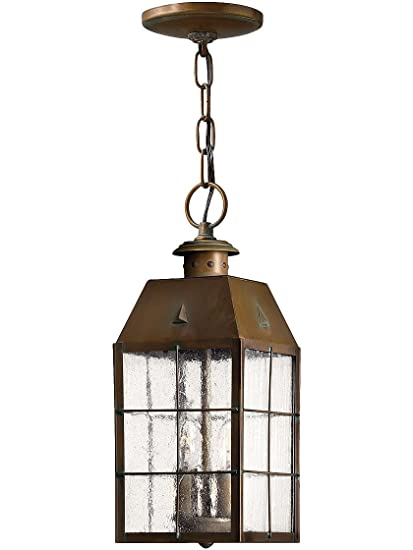 hanging porch lights. Aged Brass Nantucket Hanging Porch Light With Clear Seedy Glass Lights