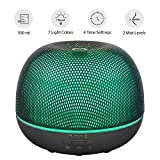 metal humidifier - Plemo 500ml Essential Oil Diffuser, Metal Mesh Ultrasonic Cool Mist Humidifier with 7 Color LED Lights, Adjustable Mist, Timer, Waterless Auto Shut-off for Office Home Room Yoga Spa