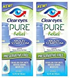 Clear Eyes Pure Relief Multi-Symptom Eye Drops, 0.34 Fl Oz by Clear Eyes
