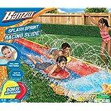 Banzai Splash Sprint Dual Lane Racing Lawn Slide with Bonus Body Boards