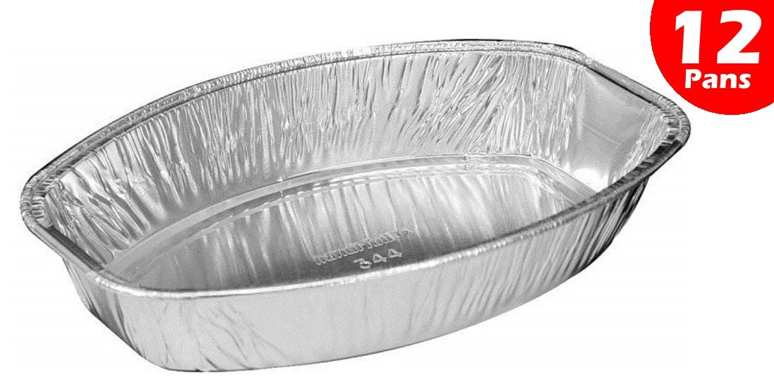 Handi-Foil Mini Oval Casserole Aluminum Pan - Disposable 22 oz Container (Pack of 12)
