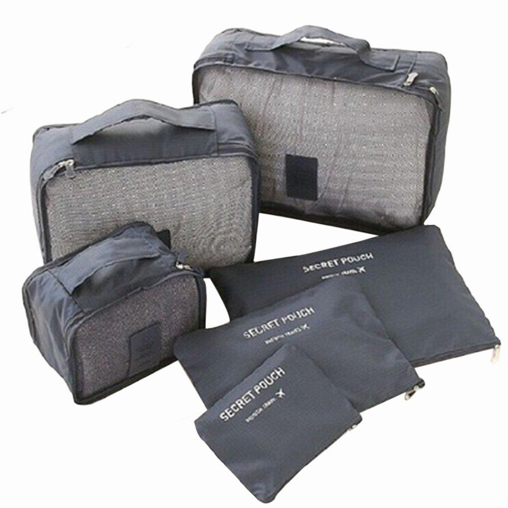 VORCOOL Kleidertaschen Set Kofferorganizer für Koffer Reisetasche Rucksack Sporttasche Wasserdichte 6 teiliges