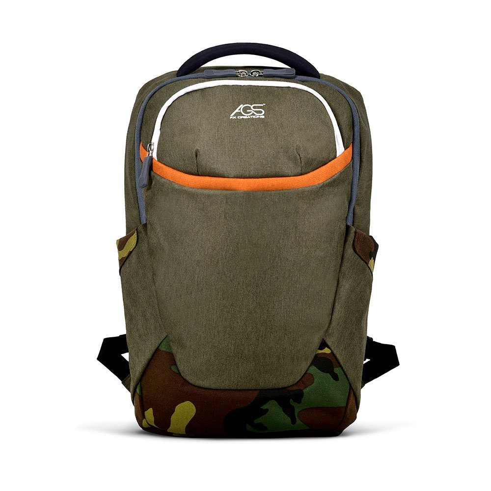 FX CREATIONS Navy Green 18.7 Inch FTX Original AGS Travel Backpack