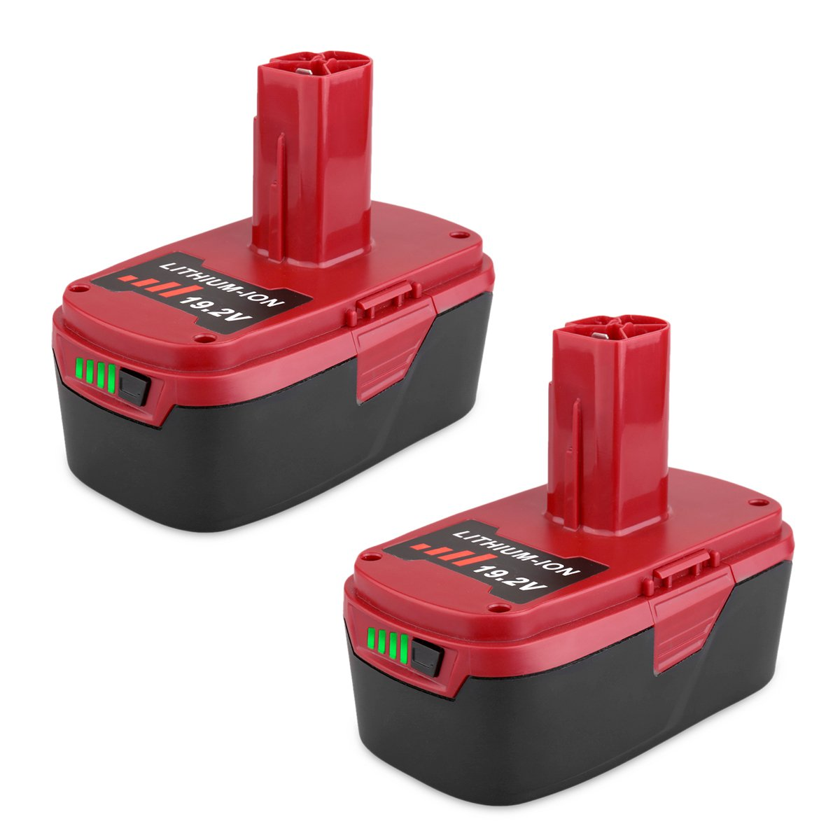 Biswaye 2Pack 4.0Ah 19.2V C3 XCP Lithium Ion Battery Replacement for 19.2-Volt Craftsman C3 Lithium Battery 130211004 11375 11045 130279005