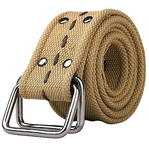 Canvas Web Belt Double D-Ring Buckle 1.78