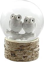 The San Francisco Music Box Company White Owl Babies 120MM Snow