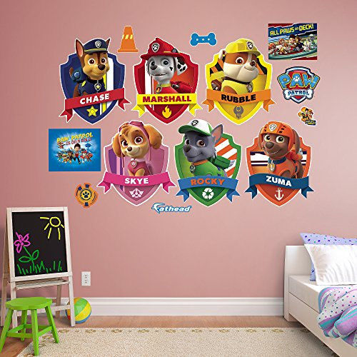 - Fathead PAW Patrol Shields Collection Real Decals