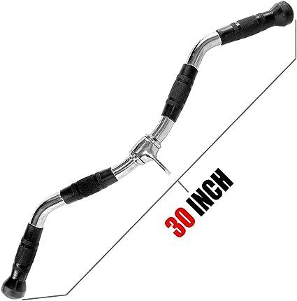 Home Gym Cable Attachment Handle Machine Strength Exercise Chrome PressDown