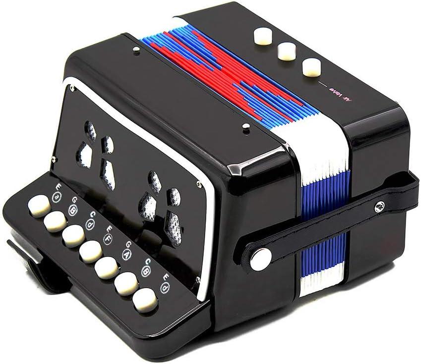 Andoer/® Mini Peque/ño Acorde/ón 7-Key 2 Bass Instrumento Musical Educativo Juguete de Rhythm Band para Ni/ños