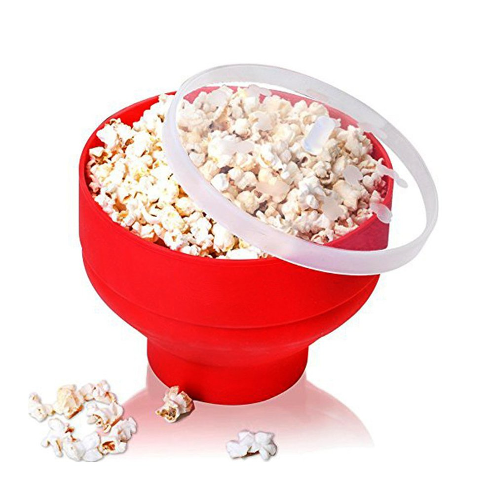 Pano Collapsible Microwave Popcorn Popper Silicone Bowl Popcorn Maker BPA Free