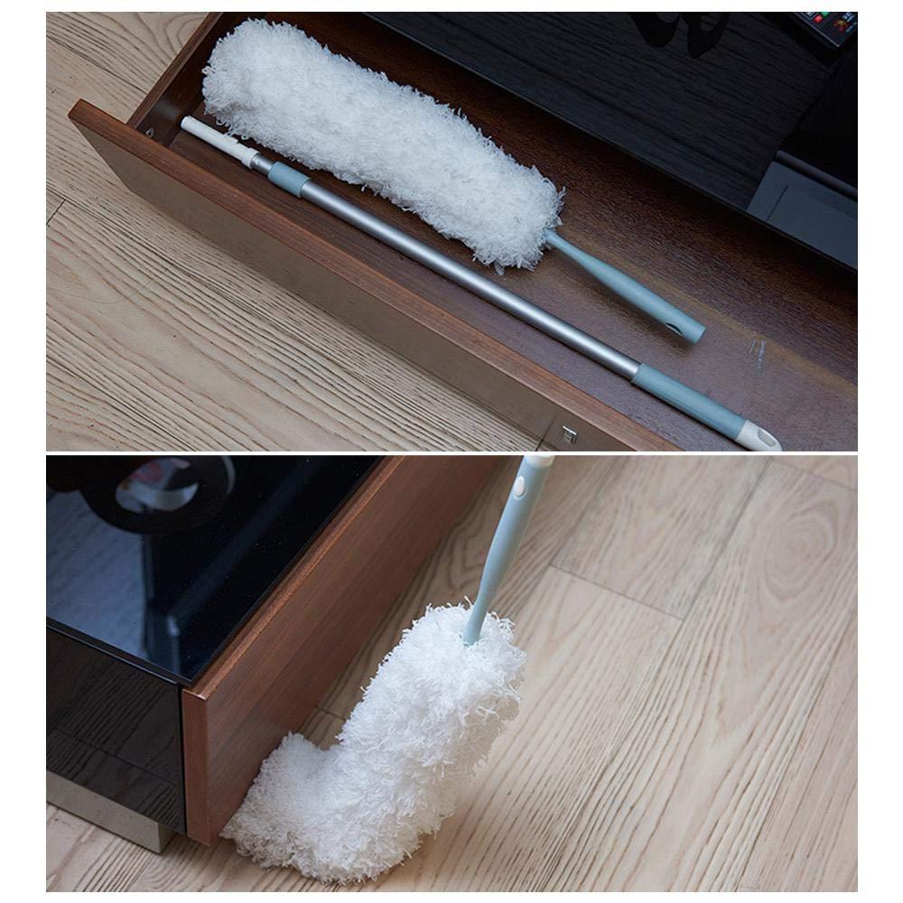 persianas Plumero de Mano de Microfibra con Mango Extensible de Acero Inoxidable y Cepillo de eliminaci/ón de Polvo para Techo removedor de telara/ña Ventiladores KOBWA