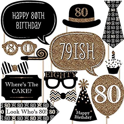 Amazon Big Dot Of Happiness Adult 80th Birthday