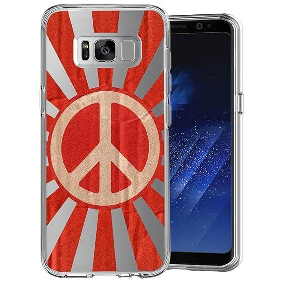 Amazon com: Peace Symbol Samsung Galaxy S8 Plus Case Clear