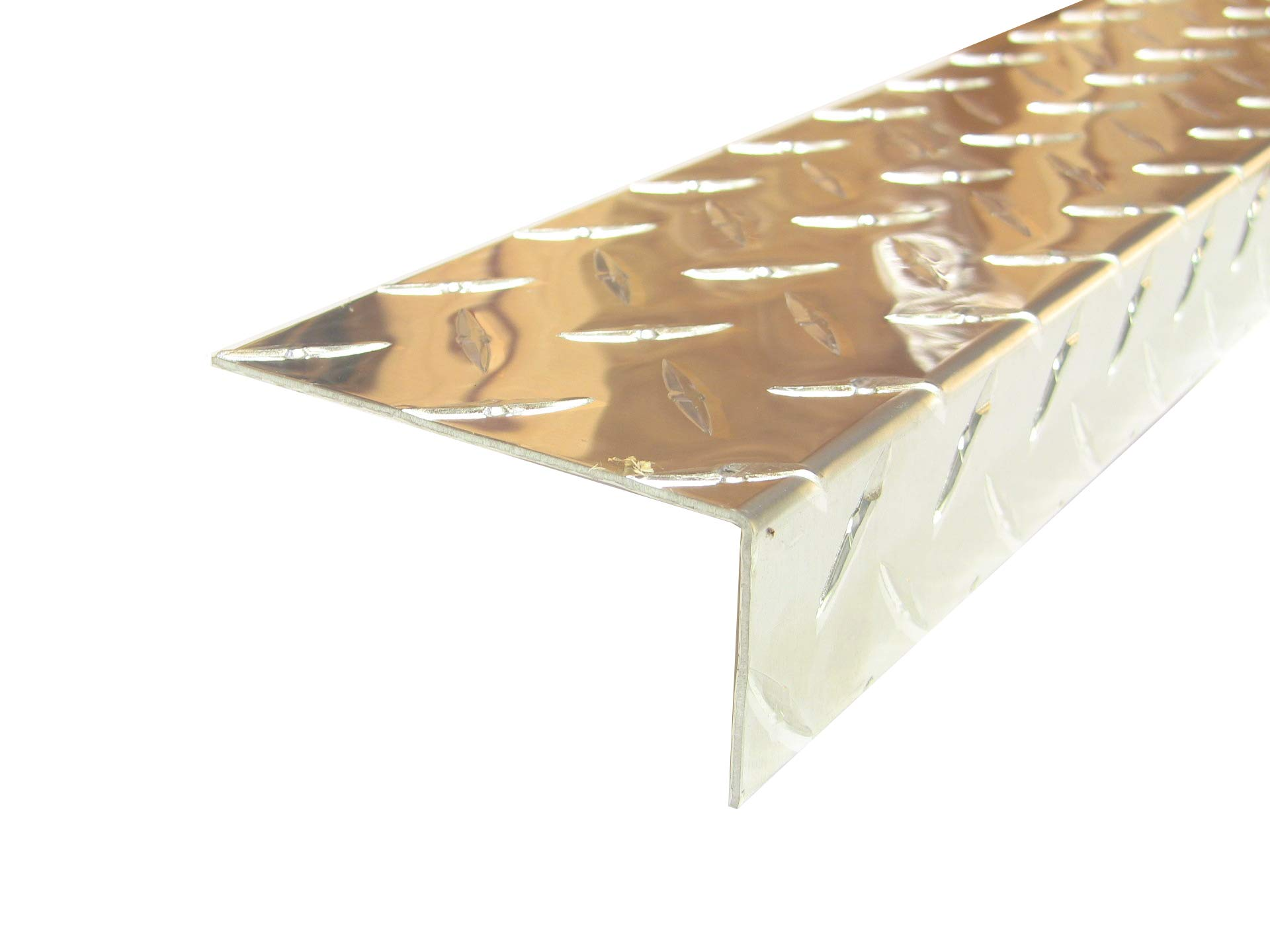 Aluminum Diamond Plate Angle .062 x 1.5 x 3.5 x 6 in. for Small Projects UAAC (1pcs) | (1/16 x 1-1/2 x 3-1/2 x 6 in.)