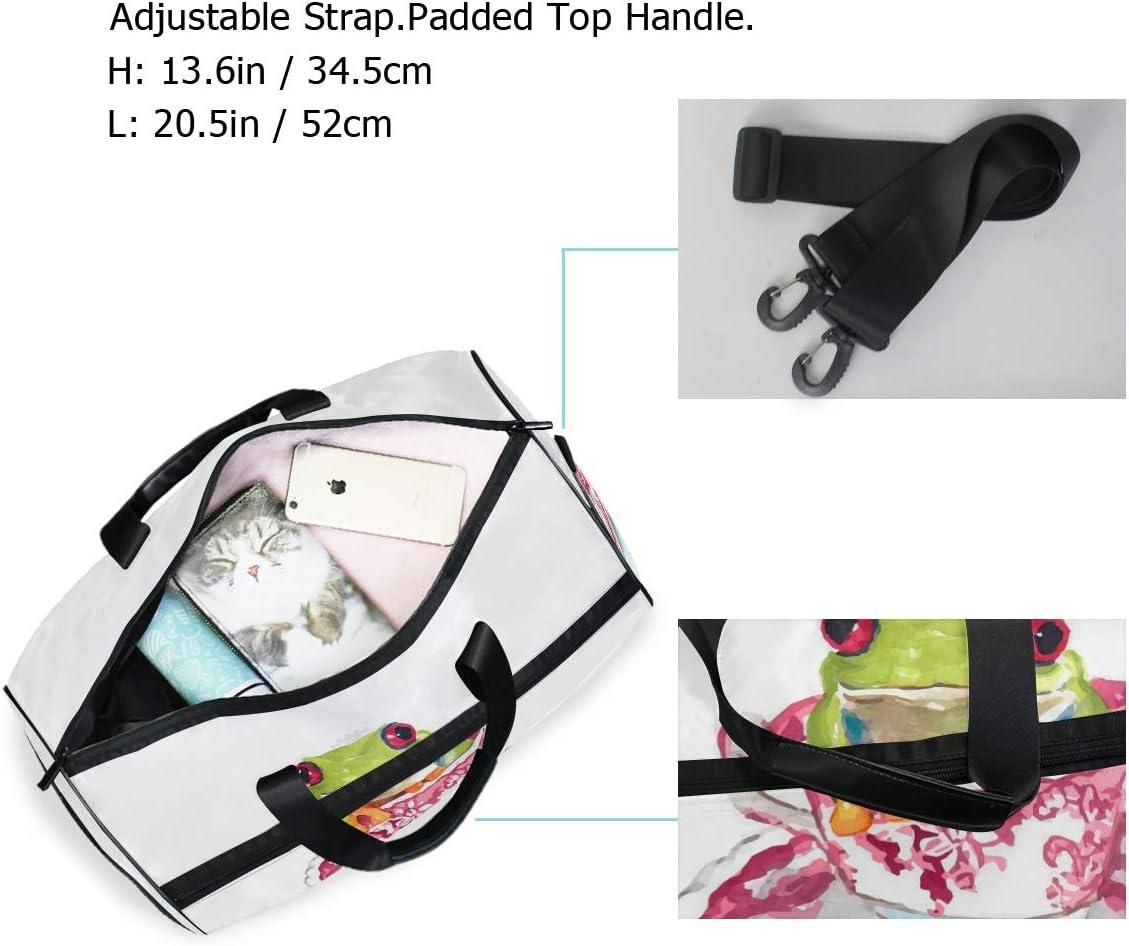 FAJRO Duffle Bag for Women Men Fog In Cup Travel Duffel Bag Large Size Water-proof Tear Resistant