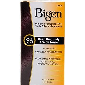 Amazon.com : Bigen Permanent Powder Hair Color 1111 Deep Burgundy 11 ...