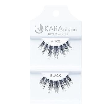 491343c7cd9 Amazon.com : Kara Beauty Human Hair Eyelashes - 702 (12pack) : Beauty
