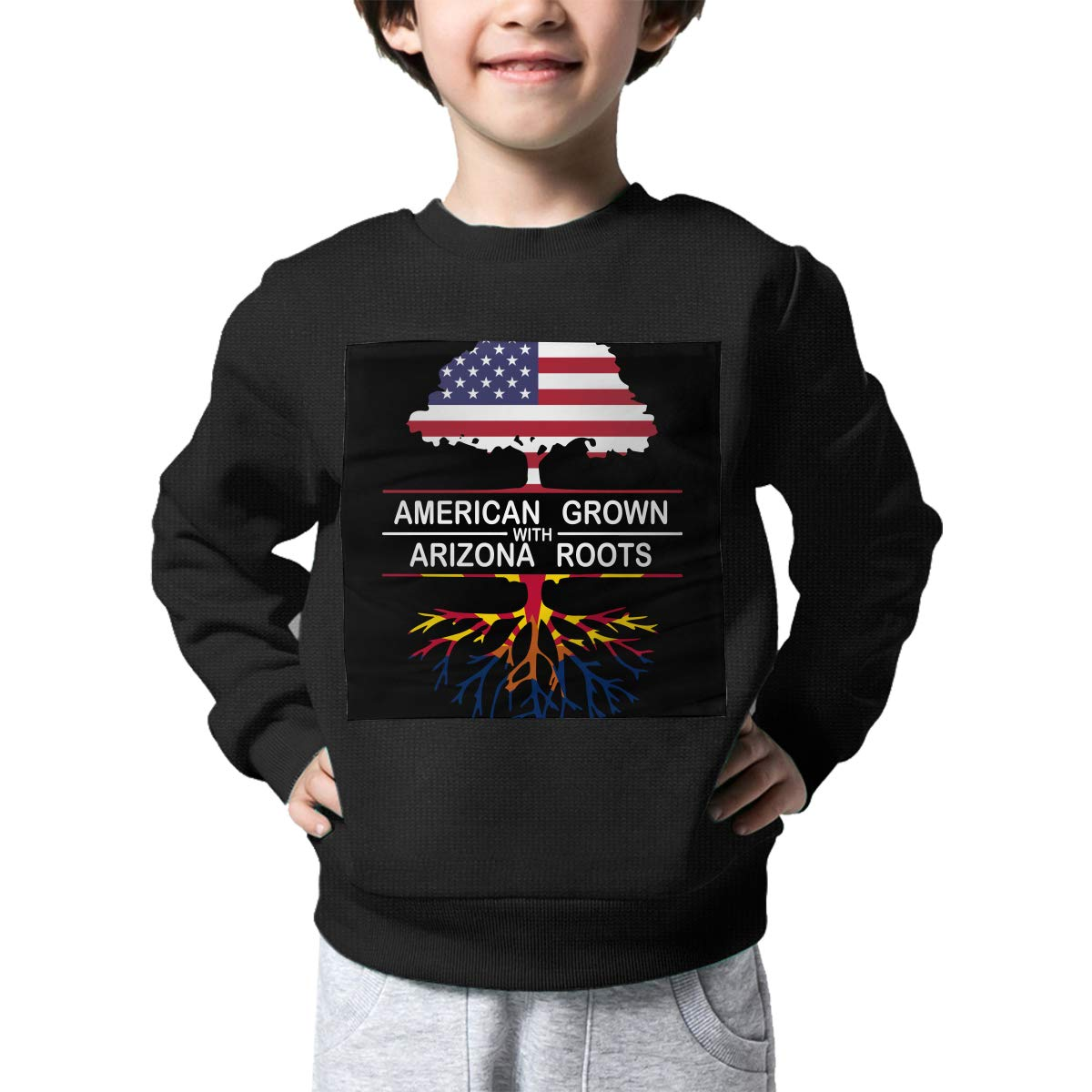 Boys Girls American Grown with Arizona Roots-1 Lovely Sweaters Soft Warm Unisex Children Kids Sweater