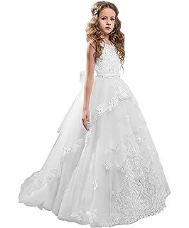 Kengtong Cérémonie Robe de Soirée Princesse Classique Fille Mariage Robes  Demoiselle d Honneur Taille Motif de917ba74ef