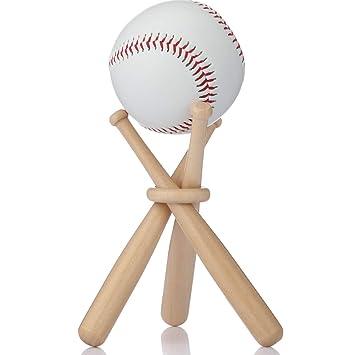 Baseball Stand Holder Wooden Baseball Bats Display Stand Holder Set For Ball For Kids 1