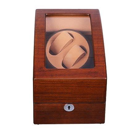 LQUIDE Watch Winder 4 Tipos De Modos De Funcionamiento,Doble Reloj Con Motor Silencioso,
