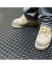 GorillaCOR™ Diamond Garage Flooring Roll - 6.5' X 21.5' (Jet Black)