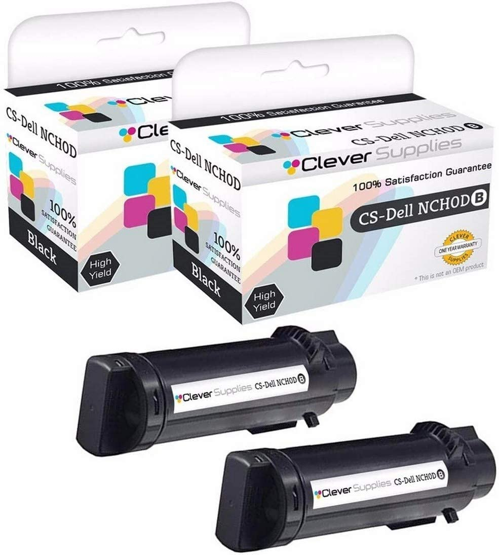 CS Compatible Toner Cartridge Replacement for Dell H625cdw NCH0D Black H625cdw H825cdw S2825cdn 2 Set
