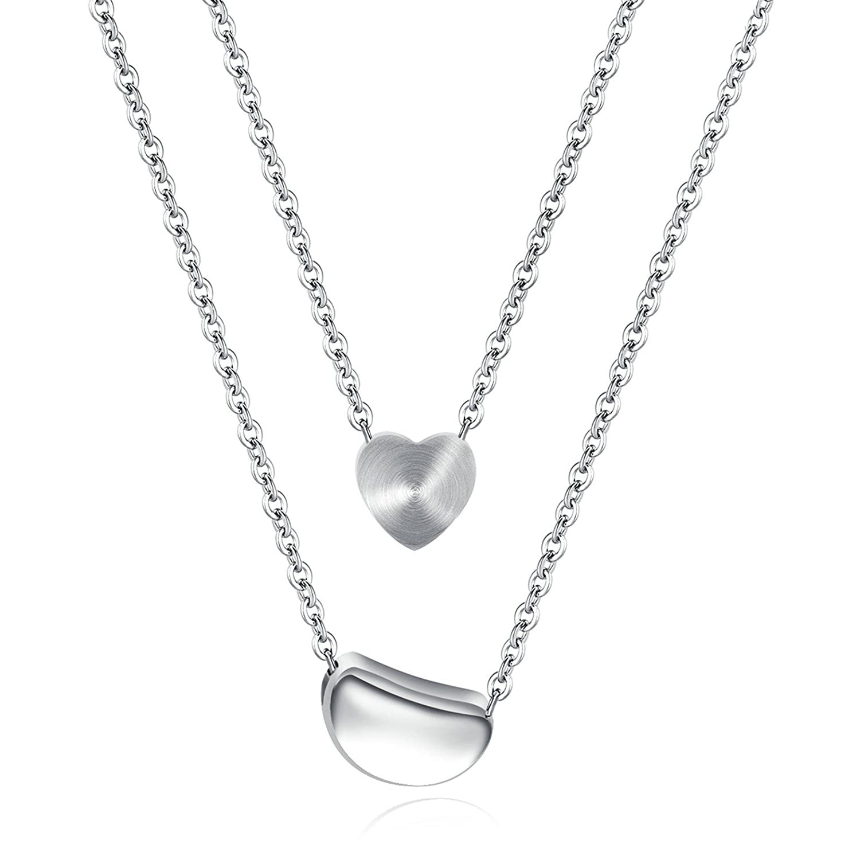 Gnzoe Jewelry Women Stainless Steel Pendant Necklace Nonstandard-Shape