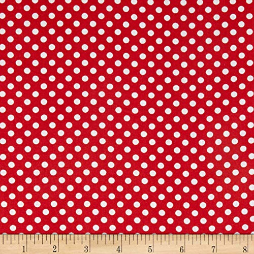 Newcastle Fabrics Polka Dot Red, Fabric by the Yard (Polka Dot Cotton Fabric)