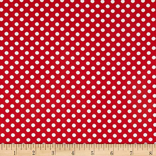 Newcastle Fabrics Polka Dot Red, Fabric by the Yard