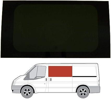 Mano izquierda, tintado oscuro fijo ventana para Ford Transit MK6/7 (00 – 13) [SWB] puerta corredera: Amazon.es: Coche y moto