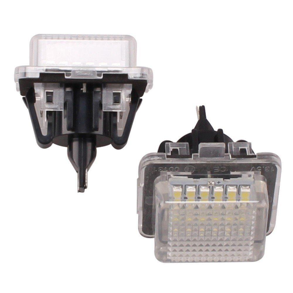 Katur 1 coppia 1.5 W 12 V-14.5 V 18 SMD LED bianco luce della targa lampade per Mercedes-Benz W221 C216 W212 W204 C63 2006 –  2011 50000 ore